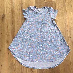 Girls LuLaroe high low dress